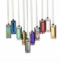 Pro Newly mini 4 Hole 8 Tone Harmonica Necklace Fashion Jewelry TCA
