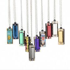 Pro Newly mini 4 Hole 8 Tone Harmonica Necklace Fashion Jewelry PEHCD