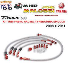 KIT TUBI FRENO IN TRECCIA MALOSSI MHR PER YAMAHA T MAX TMAX 500 ANNO 2011