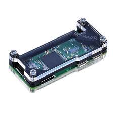 Raspberry Pi Zero W Case Black & Clear Acrylic Deluxe Case