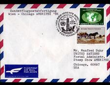"ENVELOPPE Timbrée ""NATIONS UNIES"" Oblitération Flamme postale AMERIPEX'86 , 1986"
