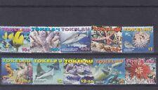TOKELAU MNH STAMP SET 2007 MARINE LIFE SG 386-395