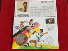Numisbrief Fussball WM USA 1994 1000 Shillings Uganda 1993 Medaille PP RAR # 2