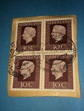 Niederlande, Königin Juliana, 30 Cent im Block gestempelt