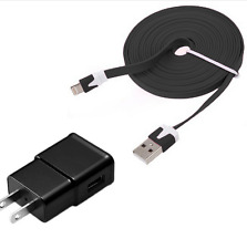 Noodle black data sync Cable + 2A black Wall AC charger iPad mini iPhone 6s 6 5