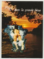 Postcard Pinup Risque Nude Stunning Girl Extremely Rare VINTAGE Post Card 9674