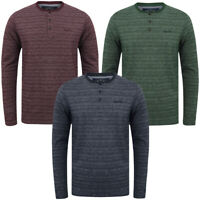 Tokyo Laundry Men Hoaden Crew Neck Long Sleeve T-Shirt Top Henley Grandad Collar
