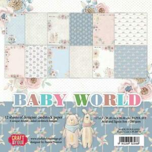 Craft & You Design Baby World 12x12 Paper Pad Set, CPSBW30  ~ NEW