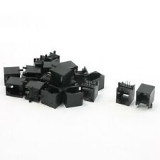 20pcs RJ11 6P4C Computer Internet Network PCB Jack Socket Black