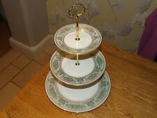 Wedgwood Columbia Sage Green three tier cake stand