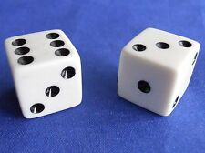 Monopoly Original White Dice Replacement Game Part Piece