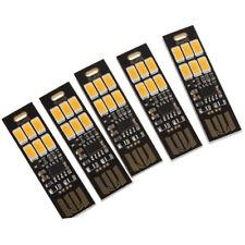 5Pcs 6-LED Night Light Soshine USB Power 1W 5V Touch Dimmer Warm White Ligh O2I5