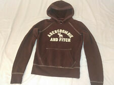 NEW Abercrombie & Fitch Womens Hoodie Sweater Sweatshirt Pullover Brown FLEECE M