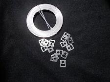 collier inox Ligarex pour cardan, 8 mm 10mètres +15 boucles