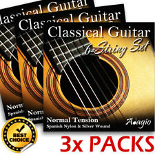 3 Packs Nylon Classical Guitar Strings By Adagio + FREE CHART + 1ST CLASS POST