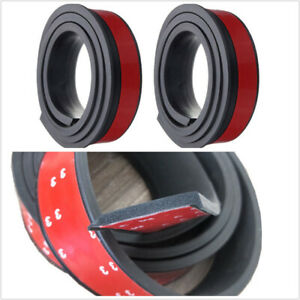 2PCS Car Wheel Fender Flare Protector Rubber Arch Lips Eyebrow Extension Trim