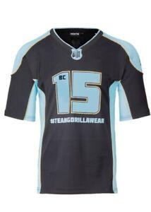 🦍UK 3XL. Gorilla Wear Athlete 2 T-Shirt Black/Blue. New design+tags. RRP £52.95