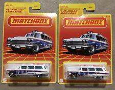 Matchbox 2021 Retro Series #8 '63 Cadillac Ambulance Lot Of 2