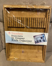 Lipper Bamboo In Drawer Knife Organizer Expandable *NEW