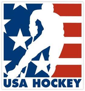 USA Hockey Sticker Decal Laptop Car Truck Cornhole Wall Pick a size