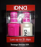 DND Daisy Soak Off Gel Polish Teenage Dream 559 full size 15ml LED/UV gel duo