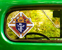2 KNIGHTS OF COLUMBUS LOGO DECALs Sticker Bogo For Car Bumper