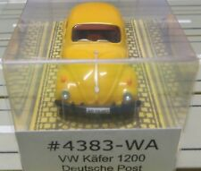 For H0 Slotcar Racing Model Railway VW Beetle Deutsche post Boxed