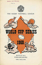 Great Britain v France World Cup Series 1 Oct 1960 Swinton RUGBY LEAGUE PROG