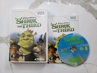 SHREK THE THIRD WII COMPLETE IN BOX W/ MANUAL CIB VERY GOOD