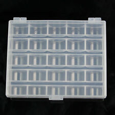 25 Slots New Empty Bobbins Spools Box Sewing Machine Bobbin Case Storage Holder