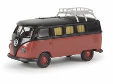 Brekina 31573 VW Camper T1b schwarz siegellackrot Dachklappe Volkswagen 1:87 Neu