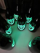 EIGHT EMPTY BOTTLES!!! DOM PERIGNON LUMINOUS CHAMPAGNE EMPTY BOTTLES.