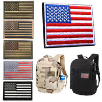 American Flag Embroidered Patch US Military Tactical Morale Desert Badge Sticker