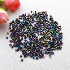 Preciosa 2mm 800pc AB Tube Bugle Beads Czech Glass Seed Beads Jewelry GZ12
