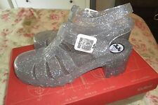 Ju Ju JuJu Jellie Jelly Platform Heels Wedges Strappy Clear Glitter UK 6