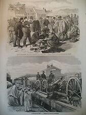 ALSACE EMIGRATION EVACUATION DES DEPARTEMENTS OCCUPéS GRAVURES 1872