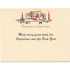 1920'S CHRISTMAS GREETING CARD UNUSED BLOTTER!  c665UNX