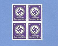 MNH Stamp Block / PF06 1942 Issue / WWII emblem / MNH Third Reich block