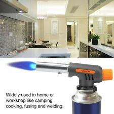 Portable Blow Torch Flame Gas Auto Ignition Soldering Camping BBQ Burner Lamp