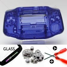 Clair Violet Coque & Verre écran Nintendo Game Boy Advance GBA boîtier / KIT