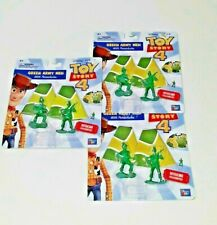 Toy Story 4  Disney Pixar Green Army Men w/ Parachutes 3 PACKS  NEW  LOT of 3