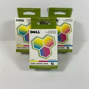 Genuine Dell J5567 Series 5 Color Ink Cartridge 3 Pack
