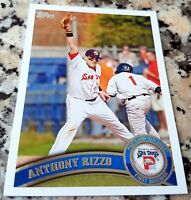 ANTHONY RIZZO 2011 Topps Rookie Card RC Red Sox Cubs 2016 World Series Champs