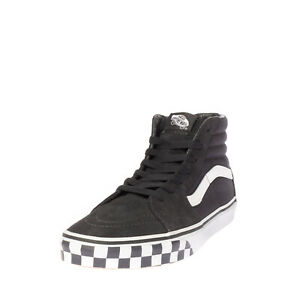 VANS SK8-HI Kids Leather & Canvas Sneakers EU38 UK5 US6 Two Tone Check Quilted