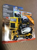 Spanking Hot New 2019 Matchbox Cement King HD Working Rigs MBX Construction