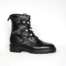 Zara Leder Damen Boots 36 schwarz Stiefeletten Stiefel Damenschuhe Neu.