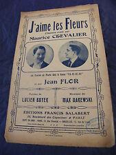 Partitur J'aime les blüten Maurice Chevalier Jean Flor 1917 Music -blatt