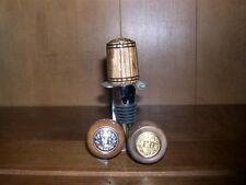Hand Carved Fire Department Wine Cork Stopper
