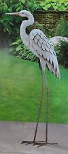 Egret Yard Art 3D Sculpture Heron Bird Metal Statue