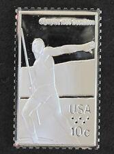 1980 USA Javelin Throw Silver Art Bar U.S. Olympic Postage Stamps P0443